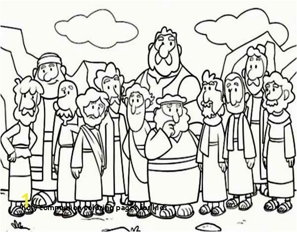 Holy munion Coloring Pages for Kids First Munion Coloring Pages Fresh Cartoon Od Jesus Disciples