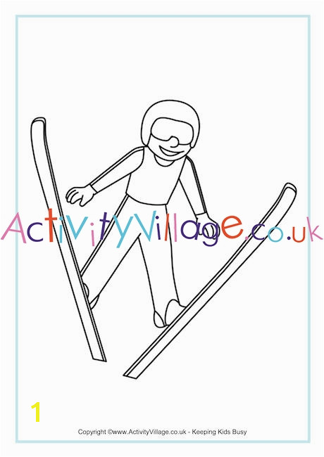 ski jumping colouring page 460 0