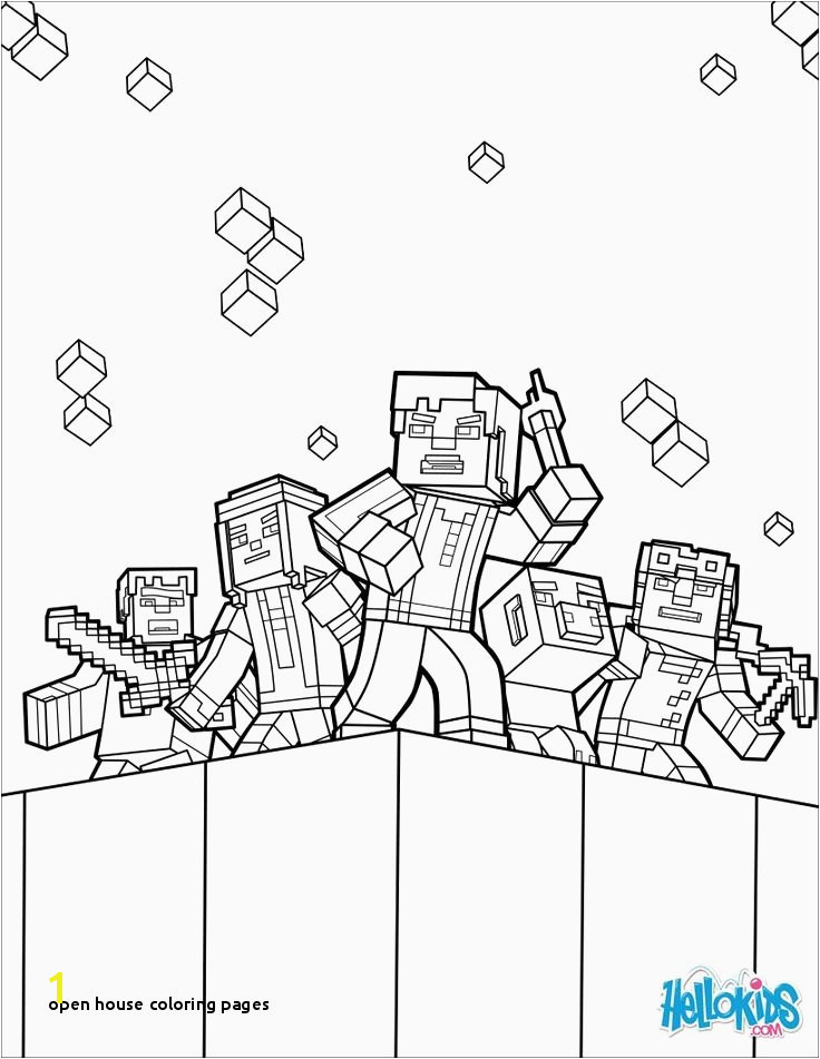 21 Open House Coloring Pages