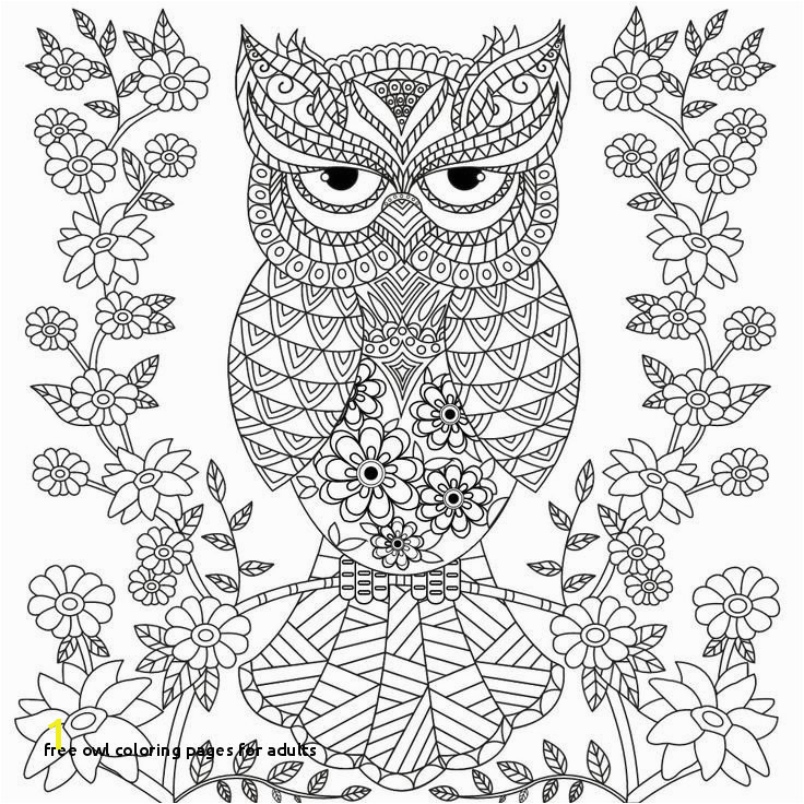 Free Owl Coloring Pages for Adults Free Owl Coloring Pages for Adults Unique Cute Printable New