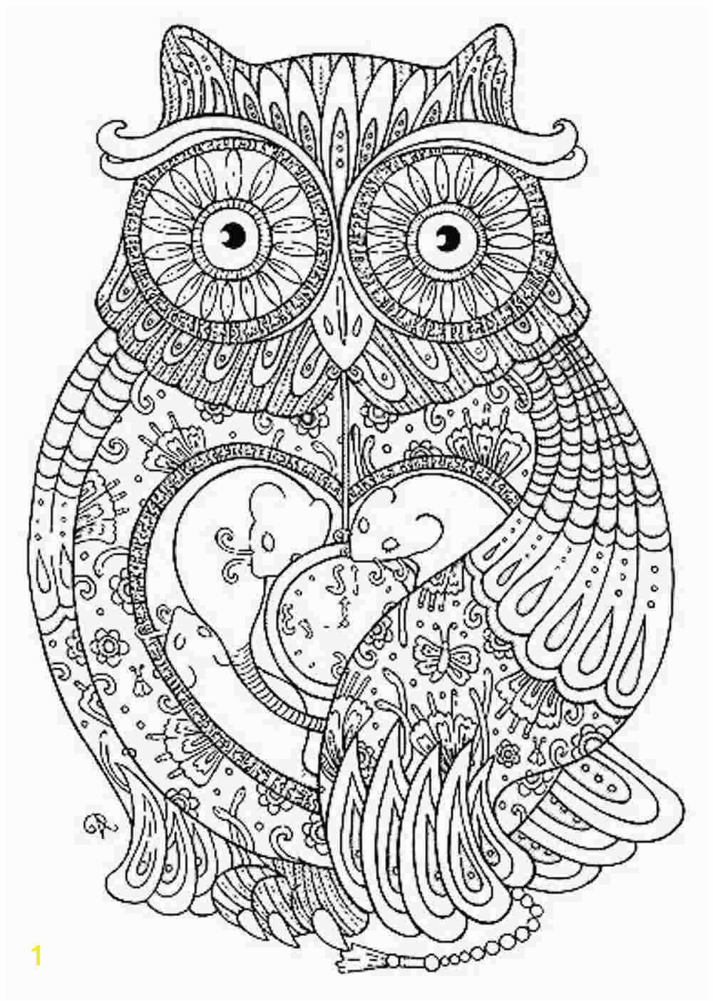 Animal mandala coloring pages to and print for free Owl Coloring Pages Free Printable