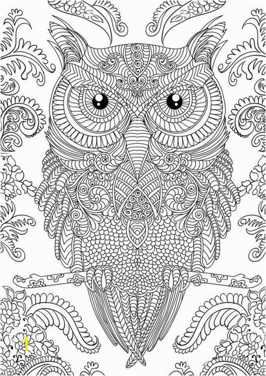 Owl doodle art hard coloring page free to print for grown ups