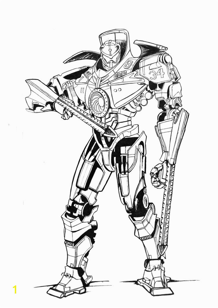 gipsy danger by ultraseven81 on deviantart of pacific rim coloring pages