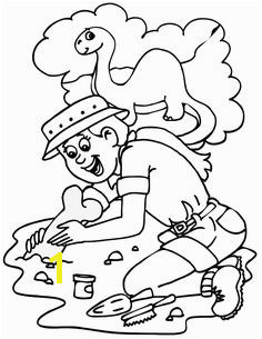 Coloring Page of a paleontologist Dinosaur Coloring Pages Alphabet Coloring Pages Coloring Sheets