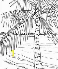 Palm tree coloring page beach art digital by adultcoloringbook Beach Coloring Pages Tree Coloring Page