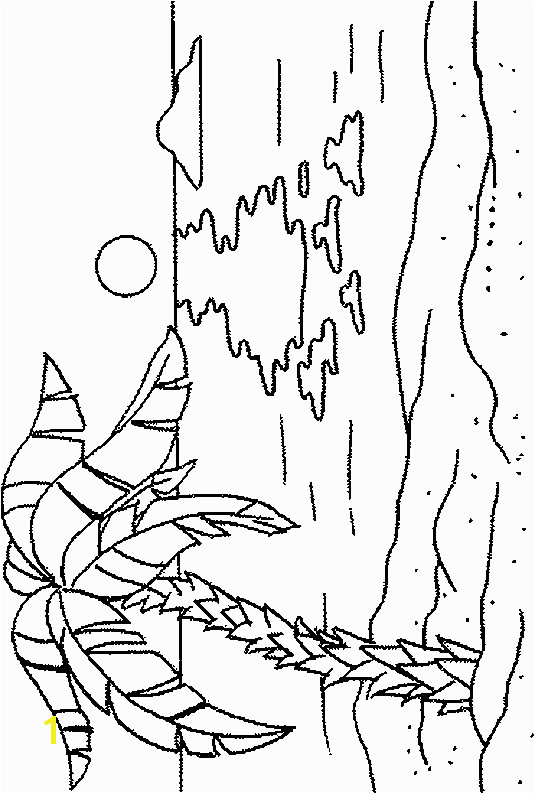 Palm Tree Coloring Page How to Draw Palm Trees Palm Tree Beach Colouring Pages