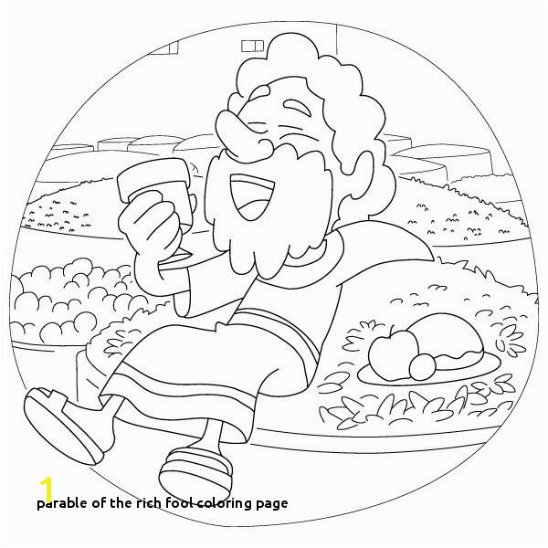 30 Parable the Rich Fool Coloring Page
