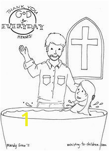"""Everyday Heroes"" Coloring Page with Pastor"