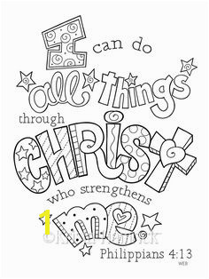 I Can Do All Things Through Christ coloring page 8 5X11 Bible journaling tip in 6X8