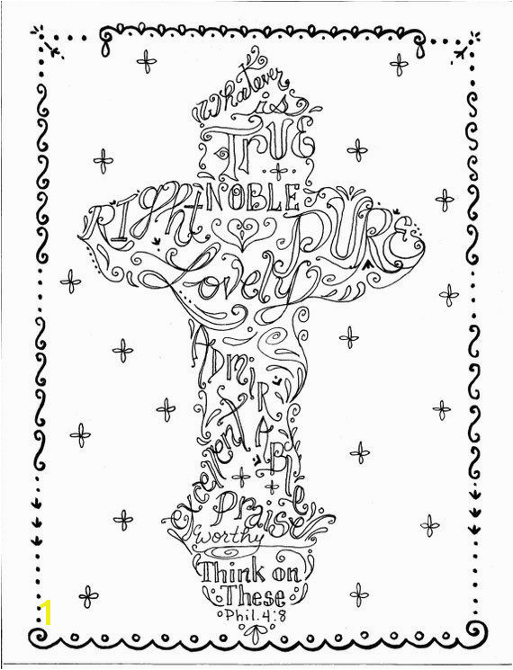 Pastor Coloring Page Cross Instant Download Printable Art Scripture Christian Print