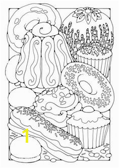 Pastry Wayne Thiebauld Food Coloring Pages Printable Coloring Adult Coloring Pages Coloring