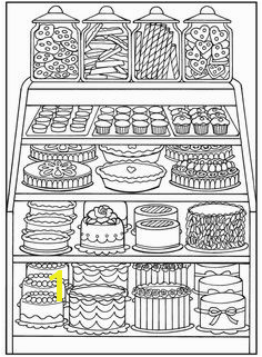 Dover Sampler Creative Haven Designer Desserts Coloring Book