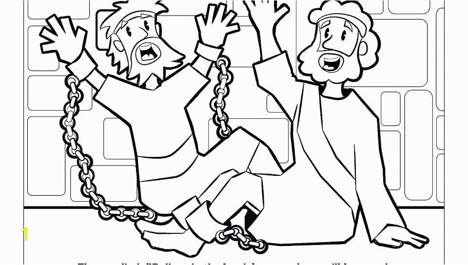 coloring picture of paul and silas in jail