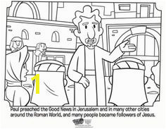 Kids coloring page from What s in the Bible showing Paul preaching Volume 11