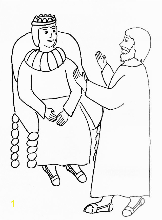 paul and king agrippa coloring page