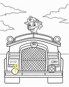 Marshal Firetruck Paw Patrol Coloring Pages Kreativ Schablonen Geburtstag Malbuch Vorlagen