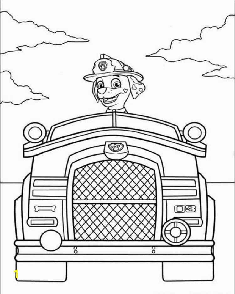 Paw Patrol Fire Truck Coloring Page Paw Patrol Fire Truck Coloring Pages