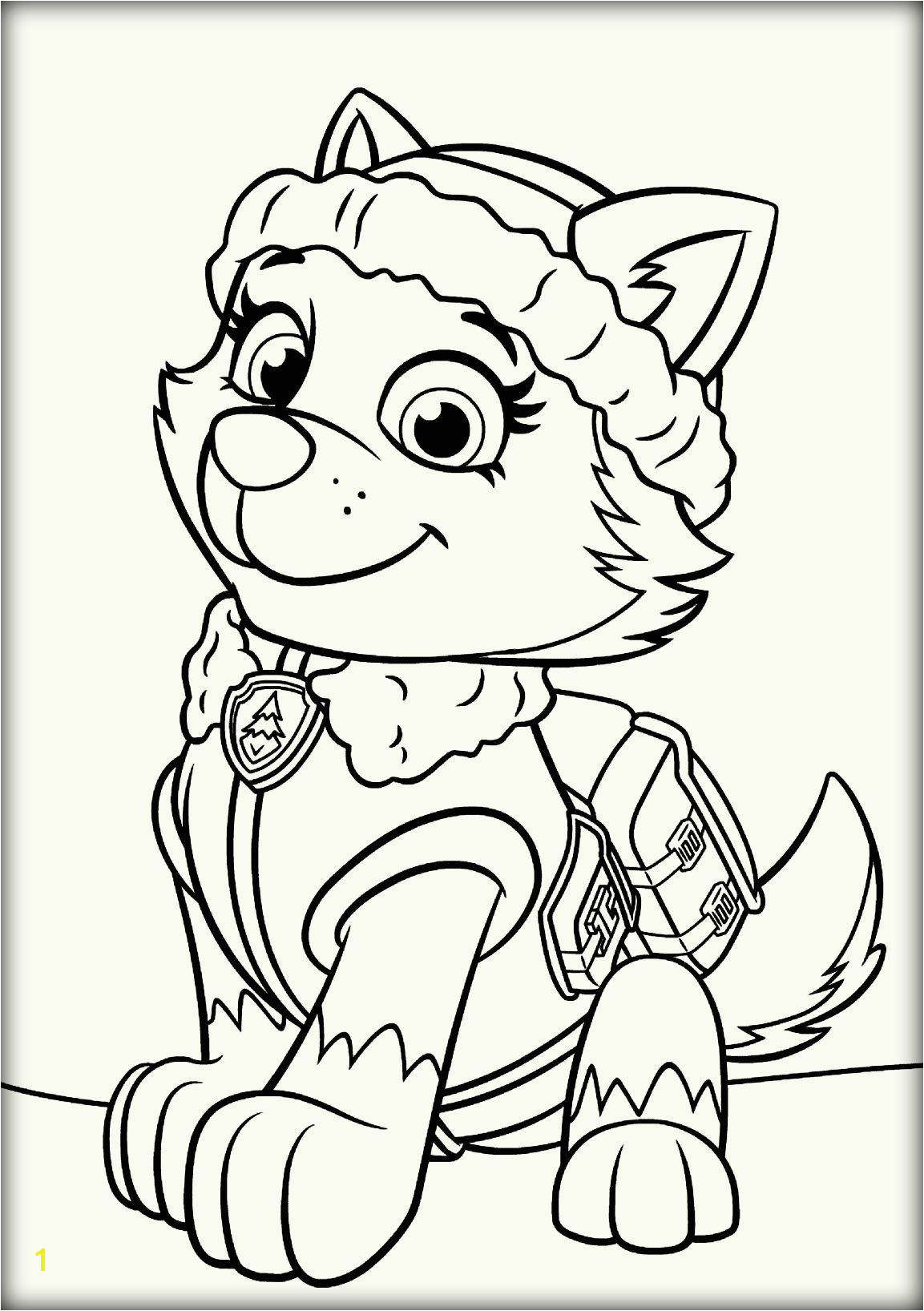 Paw Patrol Skye and Everest Coloring Pages Paw Patrol Everest Coloring Pages Coloring Pages