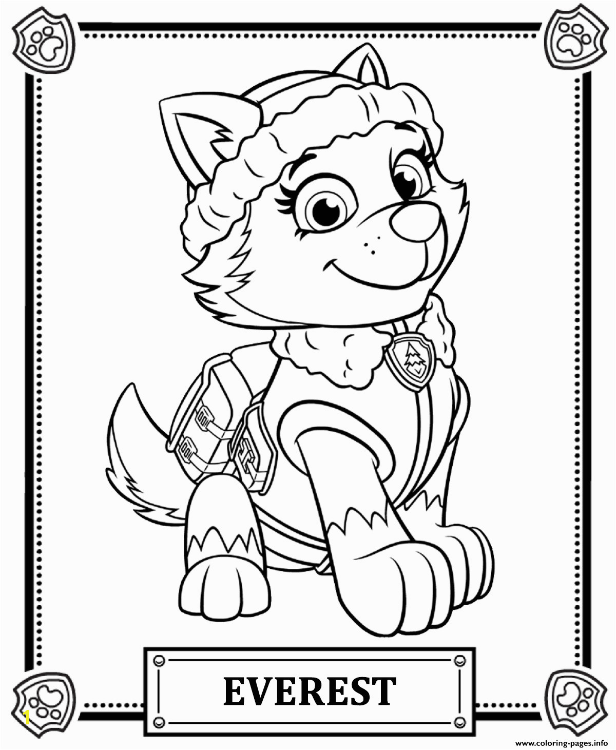 Print Paw Patrol Everest Coloring Pages Neu Paw Patrol Ausmalbilder Rocky