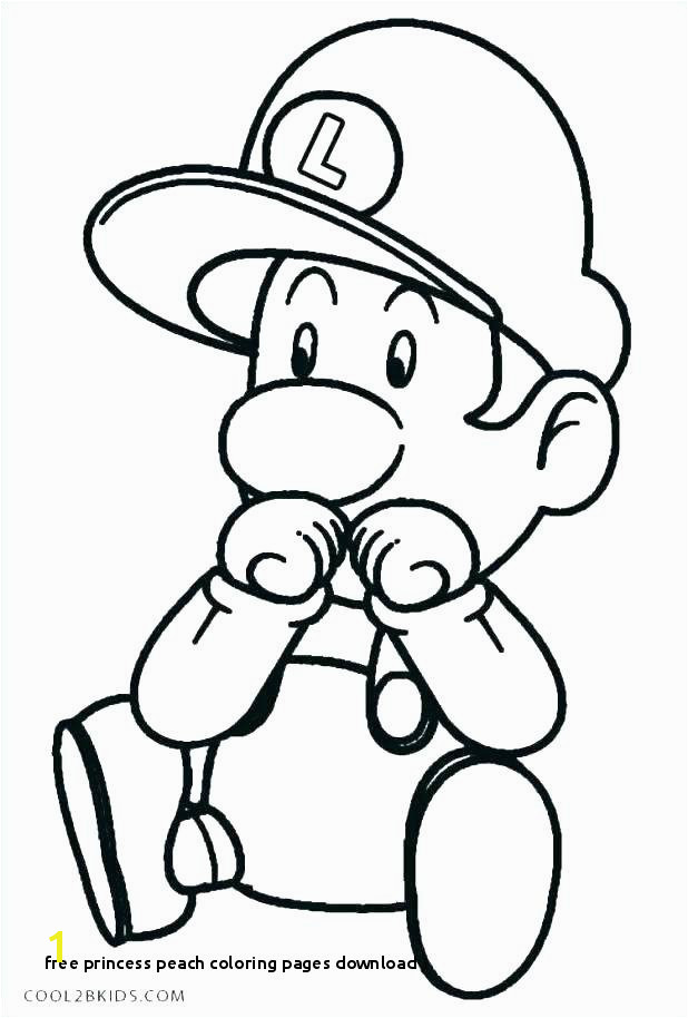 Free Princess Peach Coloring Pages Download Princess Peach Coloring Pages Line Baby Kart O D Colouring
