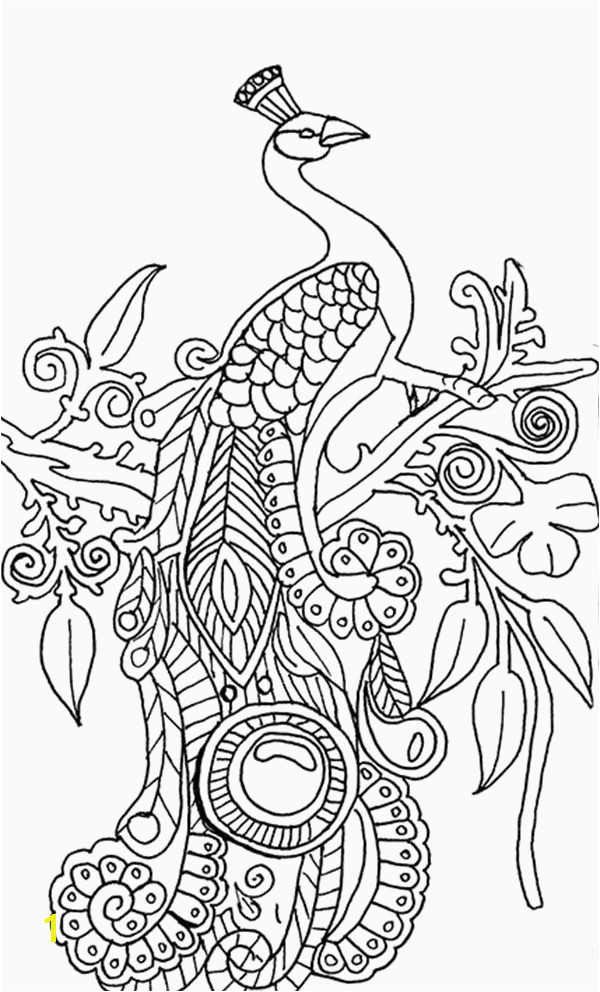 Coloring Pages Peacock Inspirational Peacock Feather Coloring Page Lovely Feather Coloring Pages