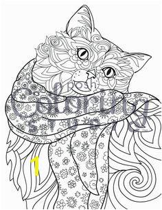 Ragdoll Rocking a Scarf Garden Coloring PagesDog