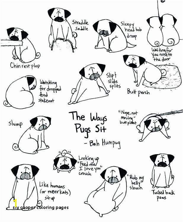 Pug Coloring Pages Breathtaking Coloring Pages Cool Designs Sly