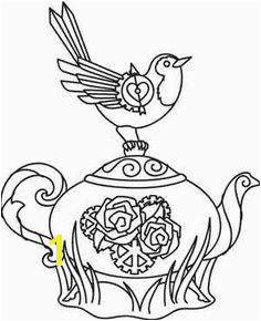 Steampunk Teatime pattern on urbanthreads Susan Ostler · Coloring pages