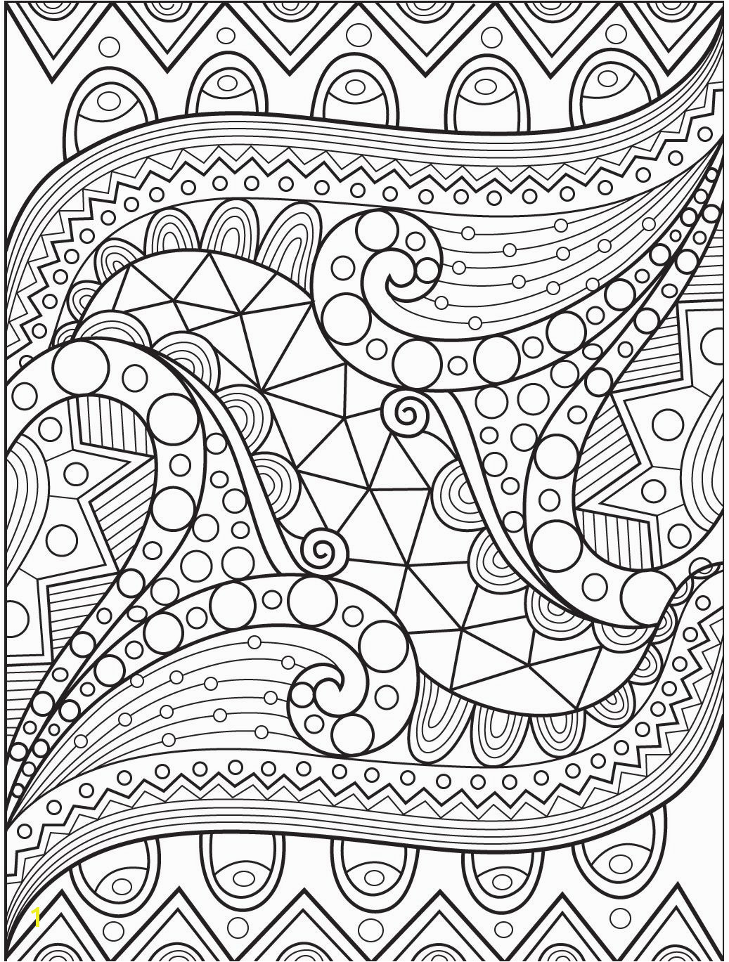 Abstract coloring page on Colorish coloring book app for adults by GoodSoftTech