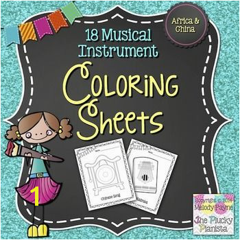 18 Musical Instrument Coloring Pages Instruments of China & Africa