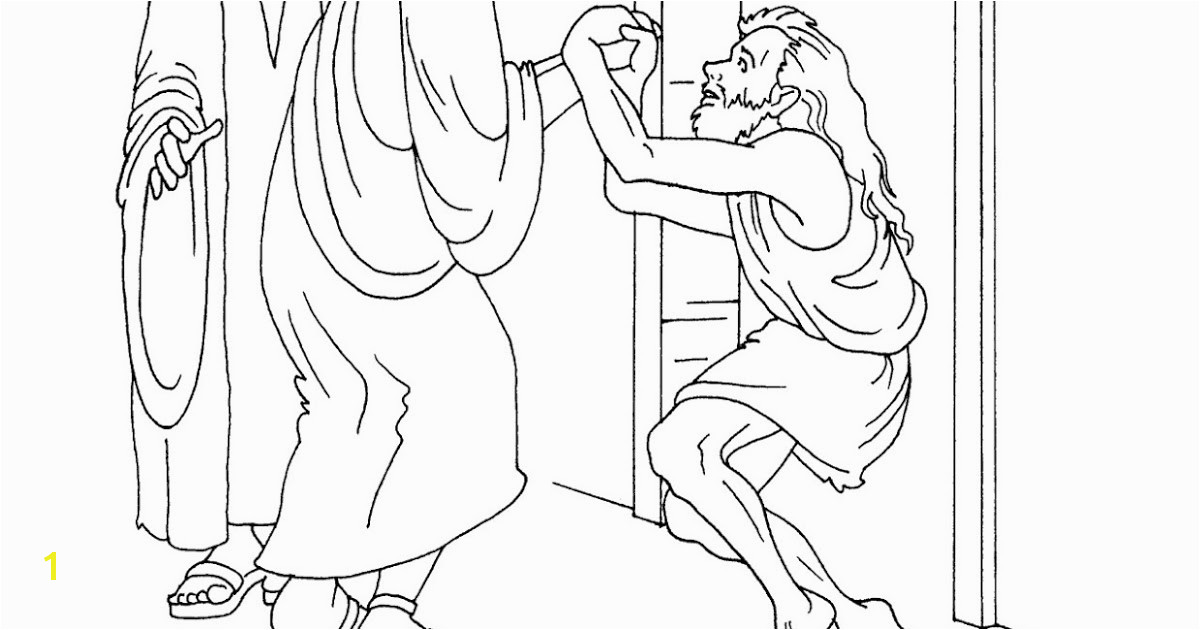 Story Coloring Page Peter Heals A Crippled Man Free Footprints From The Cynthia Davis Author May 15 Pentecost