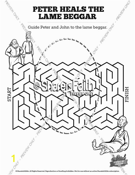Acts 3 Peter Heals The Lame Man Mazes