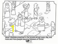 Kids coloring page from What s in the Bible showing Peter preaching Volume 11
