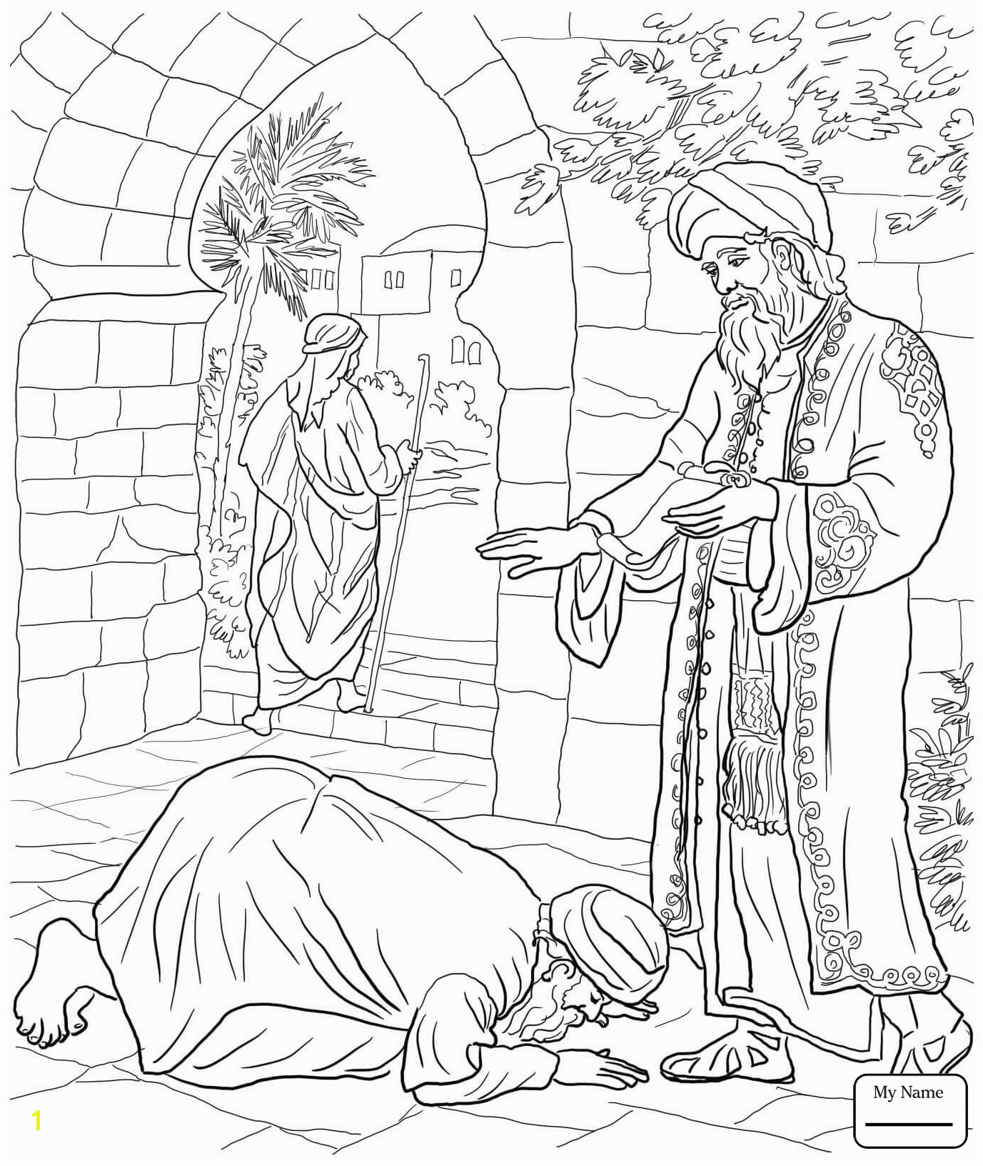 Pharisee and Tax Collector Coloring Page the Pharisee and the Tax Collector Coloring Page