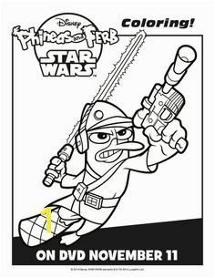 Phineas and Ferb Star Wars Coloring Sheet