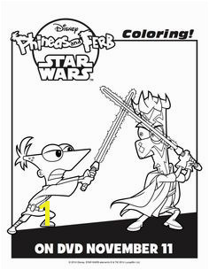 Phineas and Ferb Star Wars Activity Sheets Printables