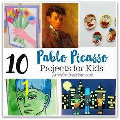 10 Pablo Picasso Projects for Kids Pablo Picasso Lesson Plans Activities Coloring Pages