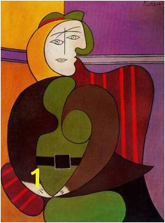 Seated Woman in a Red Armchair Pablo Picasso Art Sur Toile Red Armchair