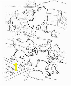 Animal Coloring Pages Barn yard Pigs Coloring Pages