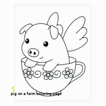 Pig On A Farm Coloring Page Pig A Farm Coloring Page Best Cute Pig Coloring Pages Kids Coloring