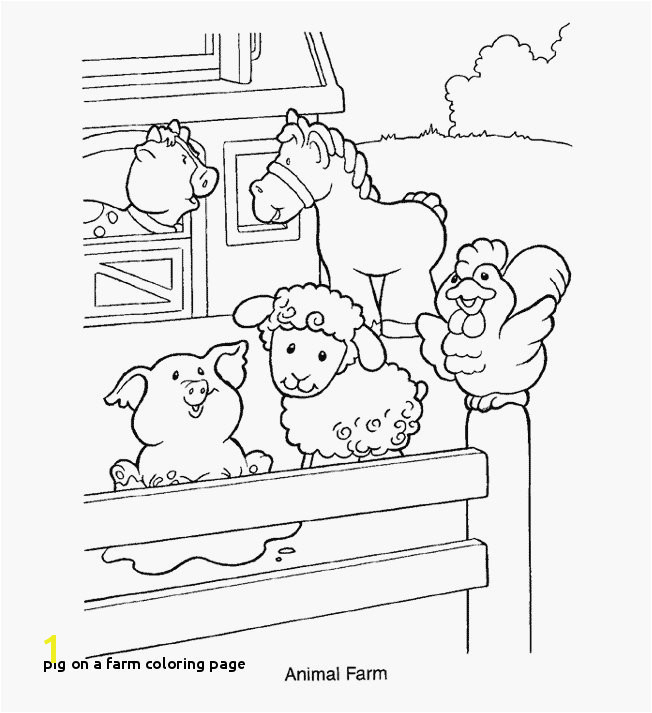 Pig A Farm Coloring Page Farm Animal Coloring Pages Appealing Farming Coloring Pages Snapshot