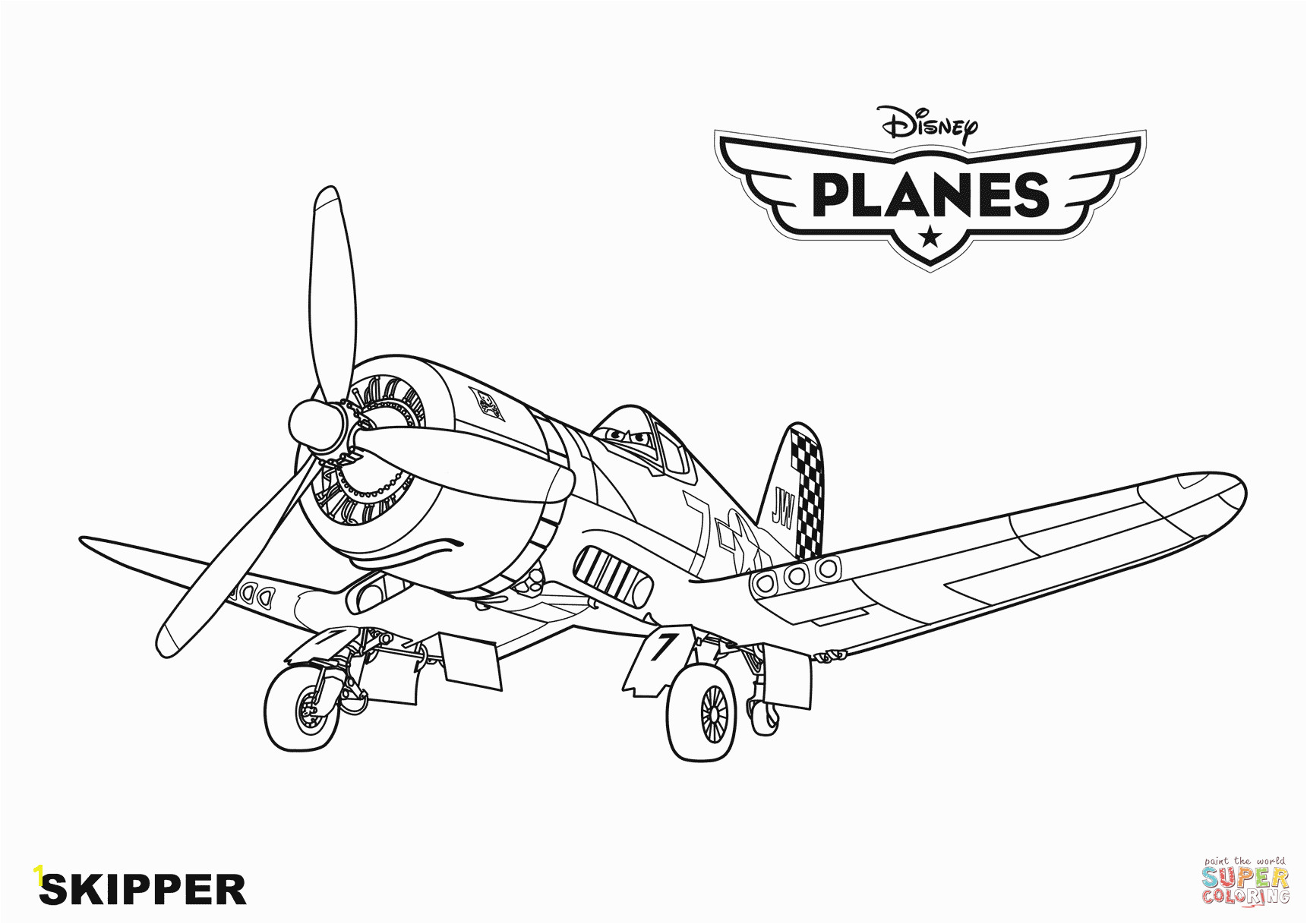 Planes Coloring Pages 4