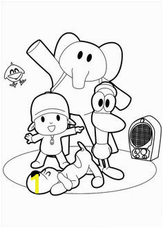 Do you love Pocoyo Then this coloring picture is for your children Coloring Page is for boys and girls aged from 4 to 10 years old Pocoyo is a curious