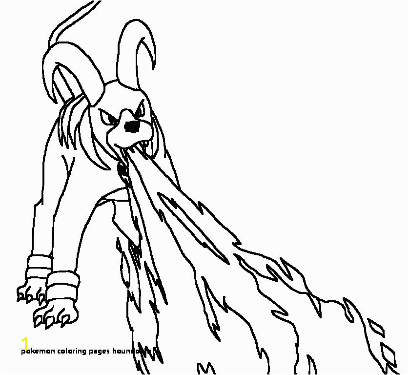 Pokemon Coloring Pages Houndoom Houndoom Drawing at Getdrawings