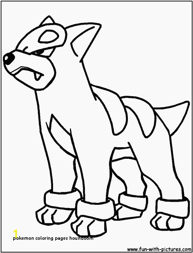 Beautiful Easy Pokemon Coloring Pages Houndoom Dynamic T Unknown