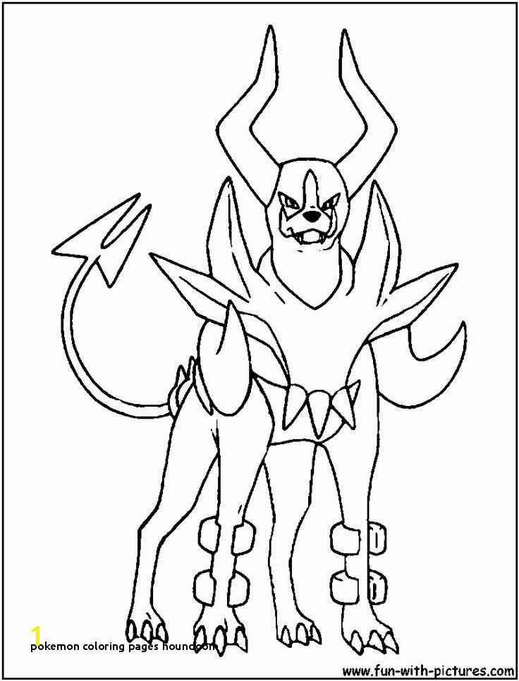 Pokemon Coloring Pages Houndoom Pokemon Coloring Pages Houndoom Pokémon Coloring Pages Kids Coloring
