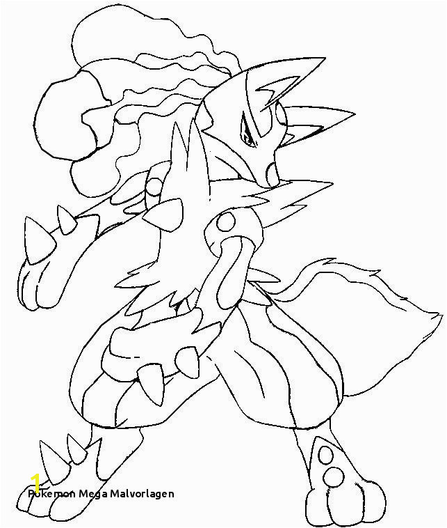 Pokemon Mega Lucario Coloring Pages by Amy blank