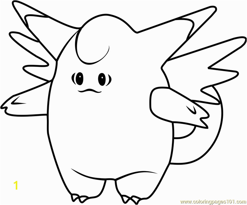 clefable pokemon go coloring page