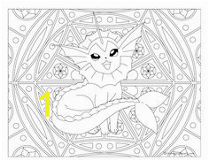 Adult Pokemon Coloring Page Vaporeon