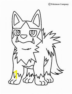 Poochyena Pokemon coloring page Now you can color online this Poochyena Pokemon coloring page and save it to your